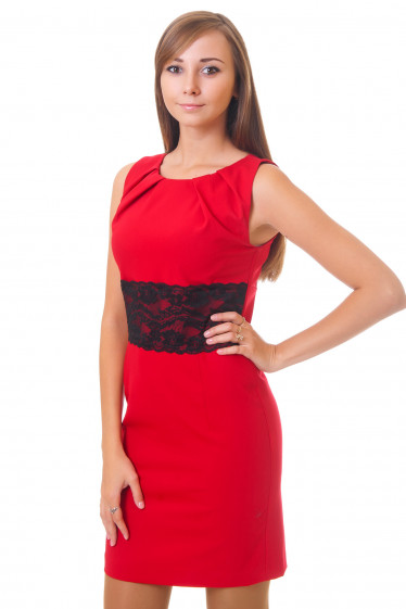 Элегантное платье с кружевом Деловая женская одежда