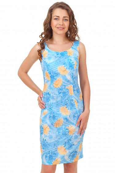 Сарафан летний в голубые ромашки Деловая женская одежда