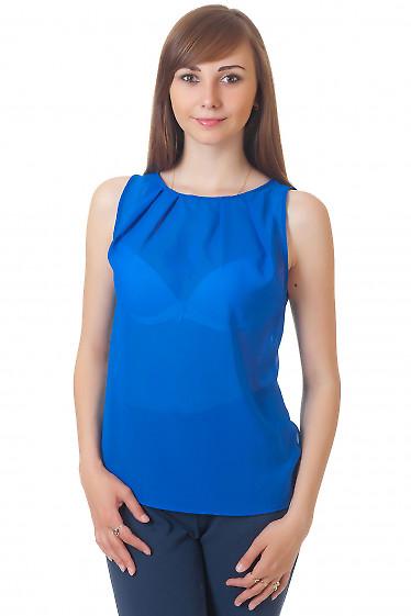 Топ синий Деловая женская одежда