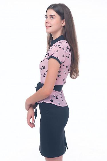 Купить розовую шифоновую блузку Деловая женская одежда