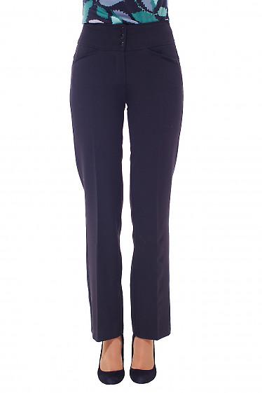 Купить брюки женские на флисе черные Деловая женская одежда