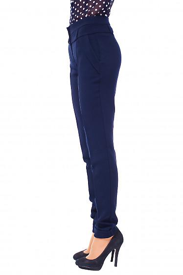 Брюки женские синие теплые Деловая женская одежда