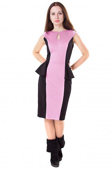 Фото Платье трикотажное с баской Деловая женская одежда