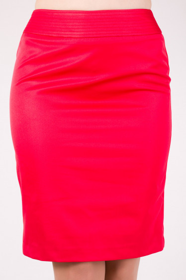 Фото Юбка классическая красная Деловая женская одежда