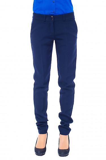 Женские синие теплые брюки. Деловая женская одежда