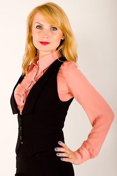 Фото Жилет черный Деловая женская одежда