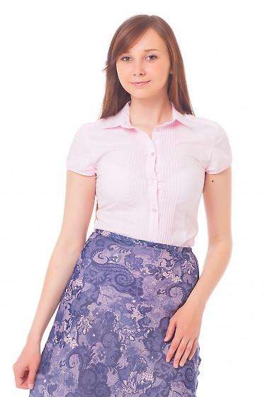 Блузка с защипами и коротким рукавом Деловая женская одежда