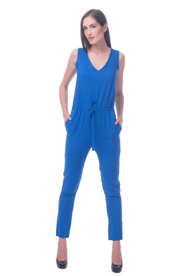 Фото Комбинезон синий Деловая женская одежда