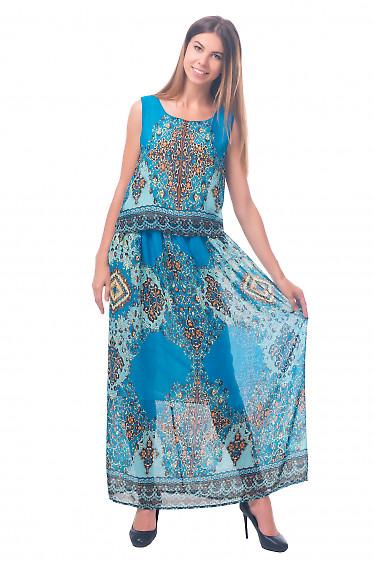 Фото Платье длинное из шифона Деловая женская одежда