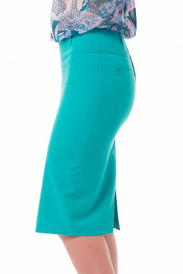 Зеленая юбка-карандаш