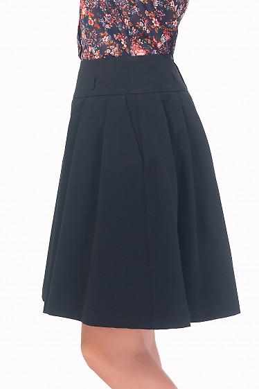 Купить юбку черную пышную с карманами Деловая женская одежда
