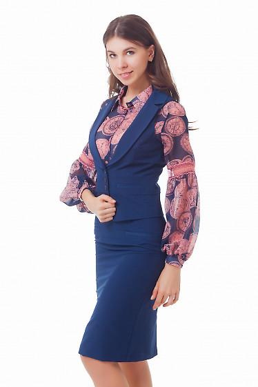 Купить синюю жилетку Деловая женская одежда