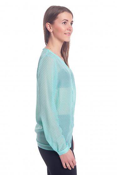 Блузка из тонкого бирюзового шифона