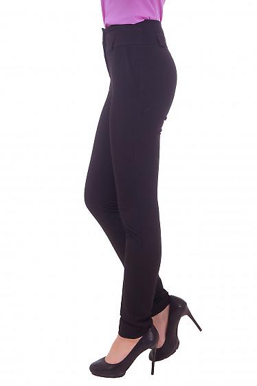 Купить женские брюки черные с завышенной посадкой Деловая женская одежда