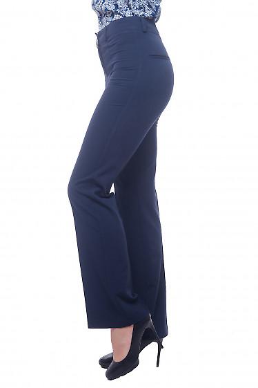 Купить брюки синее с узкой талией Деловая женская одежда фото