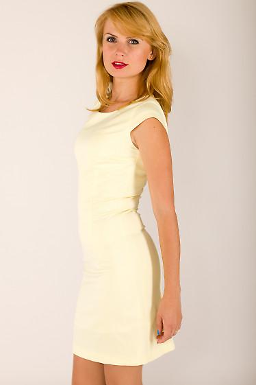 Фото Платье лимонного цвета Деловая женская одежда
