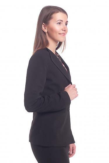 Купить жакет черный с латкой на плече Деловая женская одежда
