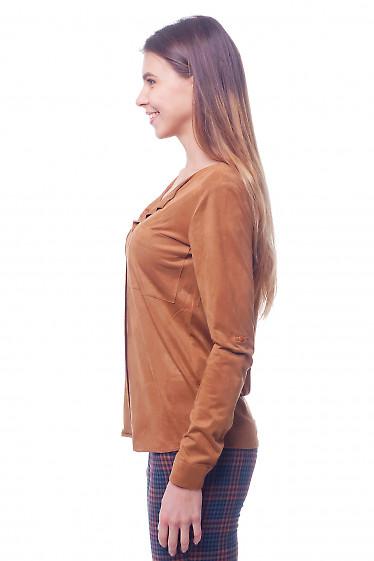 Коричневая женская блуза фото