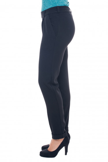 Черные деловые теплые брюки