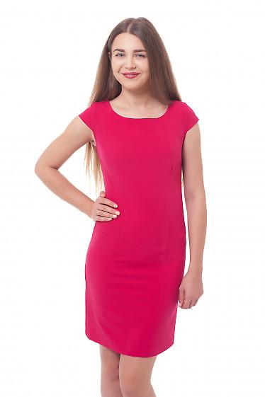 Платье-футляр малинового цвета Деловая женская одежда фото