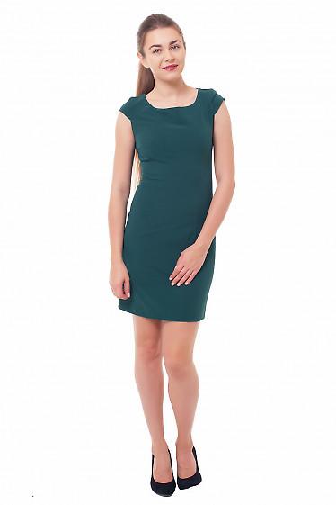 Купить платье-футляр зеленое Деловая женская одежда фото