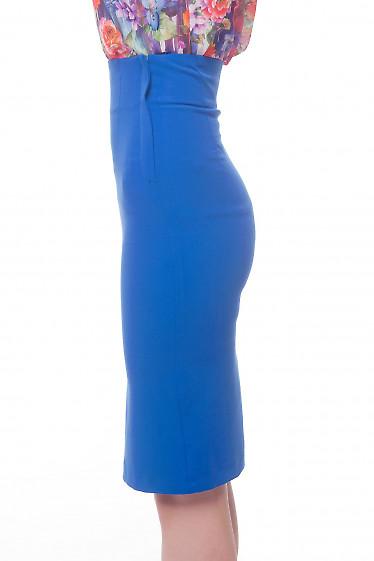 Купить юбку-карандаш цвета электрик Деловая женская одежда фото