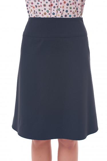 Юбка черная на кокетке Деловая женская одежда фото