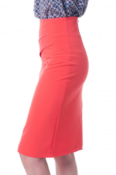 Летняя коралловая юбка фото