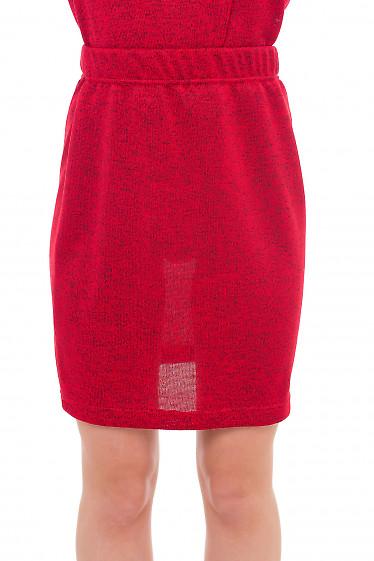 Юбка красная трикотажная. Деловая женская одежда фото