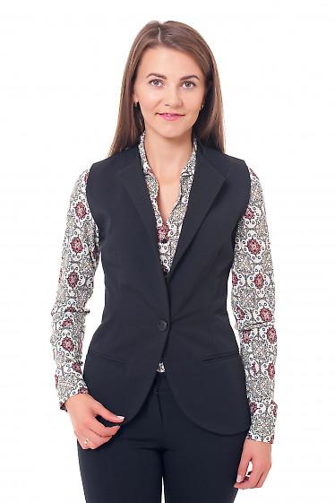 Жилетка на флисе черного цвета Деловая женская одежда фото