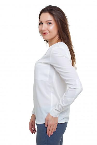 Блузка белая Деловая женская одежда фото