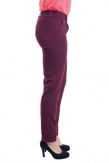 Купить брюки бордовые на резинке Деловая женская одежда фото