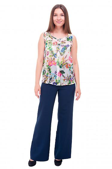 Купить брюки палаццо синего цвета Деловая женская одежда фото