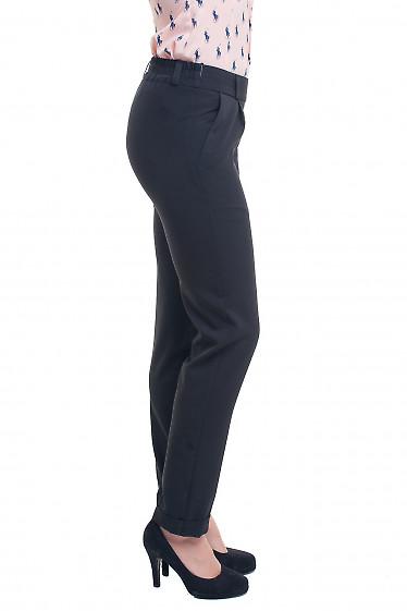 Купить черные брюки на резинке Деловая женская одежда фото
