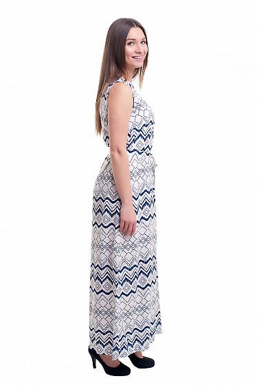 Купить платье в пол с поясом Деловая женская одежда фото