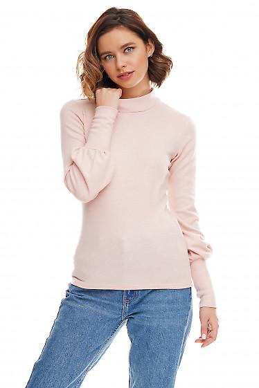 Гольф розовый с люрексом. Деловая женская одежда фото
