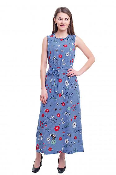 Летнее полосатое платье в пол Деловая женская одежда фото