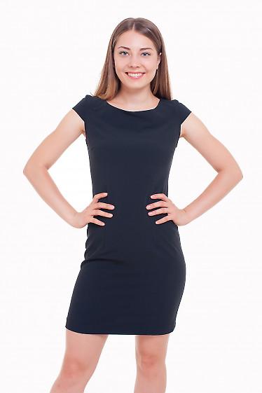 Платье короткое черное Деловая женская одежда фото