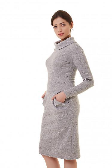 Теплое серое платье из ангоры