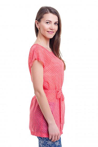 Купить красную тунику в горох Деловая женская одежда фото