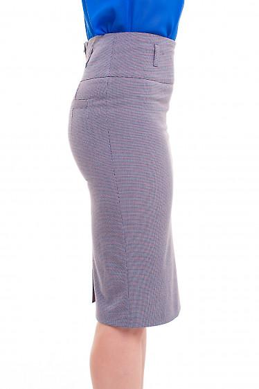 Зауженная юбка в мелкую лапку