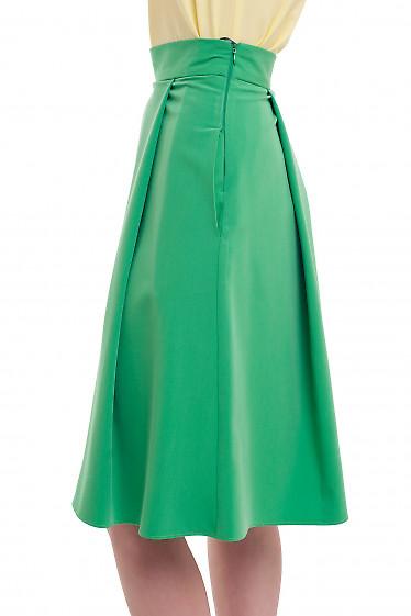 Купить юбку зеленую пышную Деловая женская одежда фото
