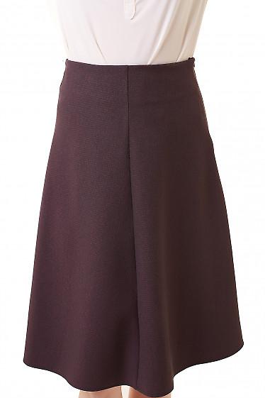 Юбка трапеция в бордовую лапку Деловая женская одежда