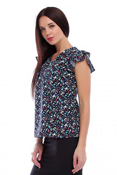 Купить блузку летнюю с крылышком. Деловая женская одежда фото