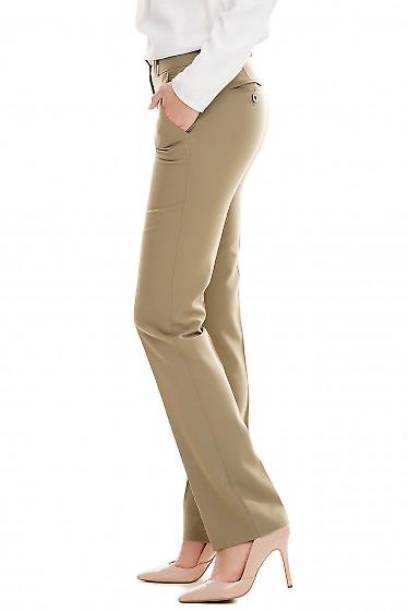 Купить брюки классические оливковые Деловая женская одежда фото