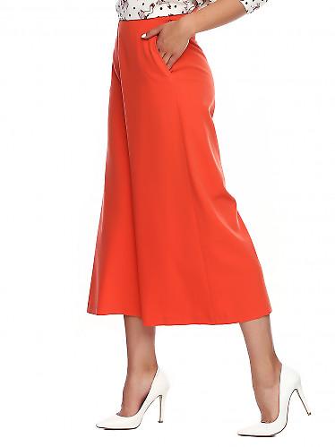 Купить брюки кюлоты коралловые. Деловая женская одежда фото
