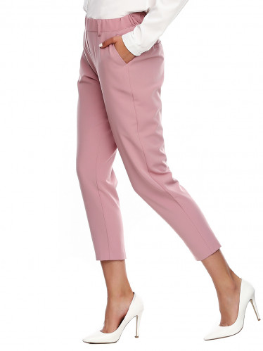 Короткие розовые женские брюки