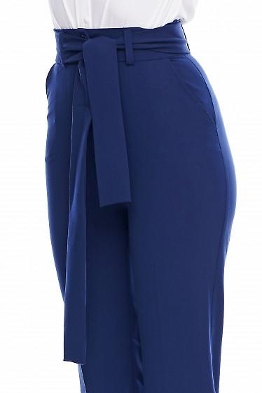 Синие брюки Деловая женская одежда фото