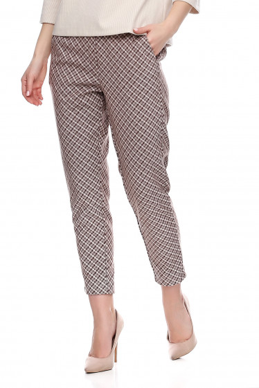 Купить теплые коричневе брюки. Деловая женская одежда фото