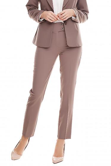 Купить брюки женские цвета хаки Деловая женская одежда фото